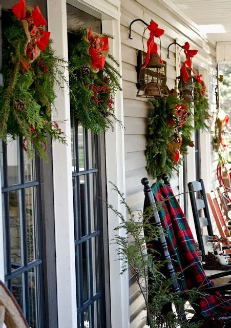 top  outdoor christmas decoration ideas  pinterest front porches pine   beautiful