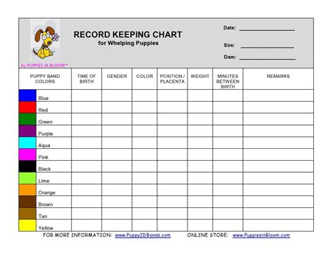 My Birth Records For Free Puppy Birth Record Sheet Breeds Picture