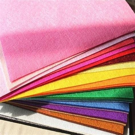 fabric for sheets 1 7pcs mix color squares non woven felt fabric sheets for