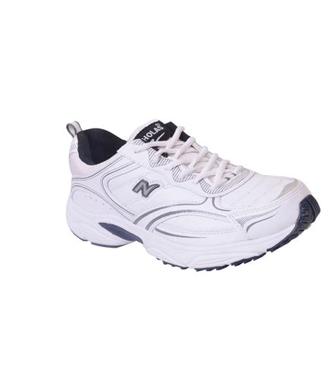 nicholas sports shoes nicholas white and grey sports shoes for price in