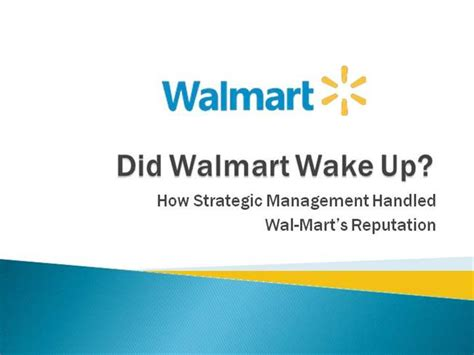 walmart powerpoint template wal mart ppt authorstream