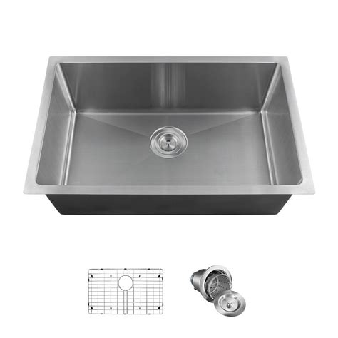 kitchen sinks direct mr direct all in one undermount stainless steel 17 88 in