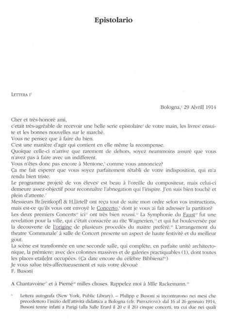 lettere francese le lettere di ferruccio busoni a isidor philipp