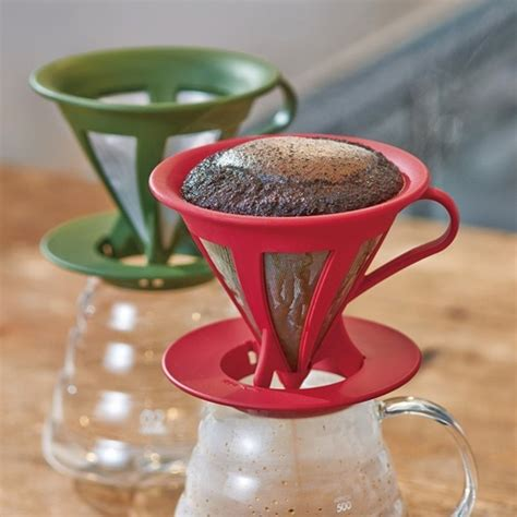 Promo V60 Cone Coffee Filter Stainless Coffee Dripper Saringan Kopi which paperless no filter pour coffee dripper is