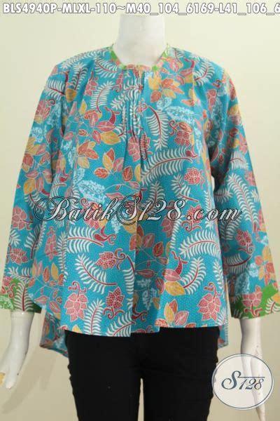 Baju Korpri Wanita Furing Size baju blus lengan panjang tidak pakai furing warna biru untuk wanita karir selalu til modis