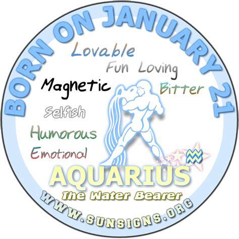 january 21 aquarius birthday horoscope personality