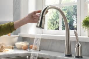 touch faucets for kitchen yanko claus win a delta pilar touch faucet yanko design