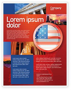 Us Flag Flyer Template Background In Microsoft Word Publisher And Illustrator Formats 02905 American Flag Flyer Template