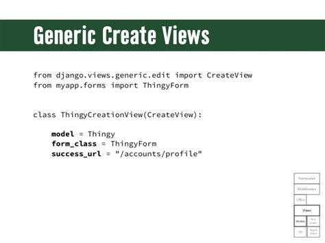 creating django views generic create viewsfrom django views generic edit import