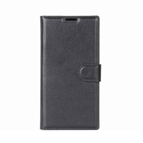 Ss6809 Litchi Horizontal Leather Blackberry Priv Black for blackberry keyone litchi texture horizontal flip leather with holder card slots