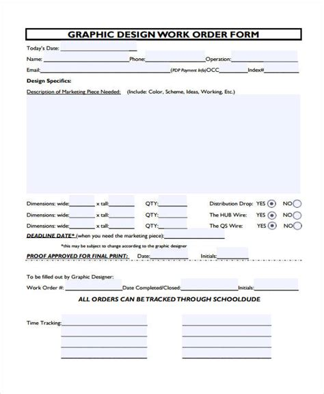 layout work order 22 work order form template