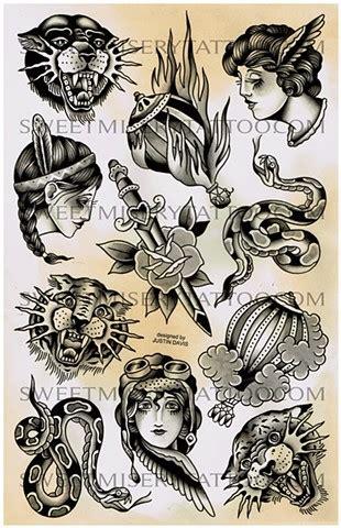 tattoo flash portfolio justin davis