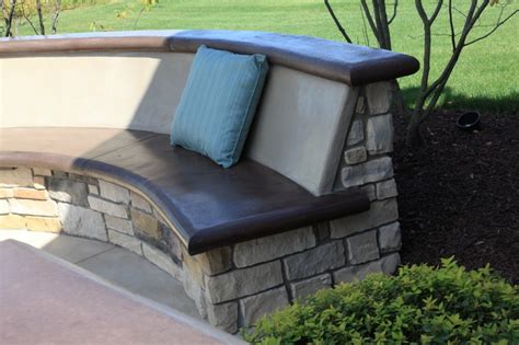 concrete seating bench custom concrete seating bench around gas firepit