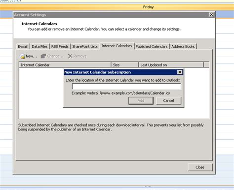 Add Outlook Calendar To Calendar One Way Syncronisation Of Your Moodle Calendar With