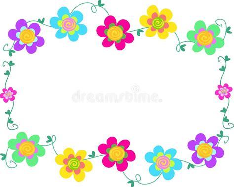 imagenes de marcos minimalistas marco de flores espirales ilustraci 243 n del vector imagen