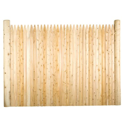 8 Ft Trellis Panels Shop Suntrellis Cedar Stockade Wood Fence Panel Common 6