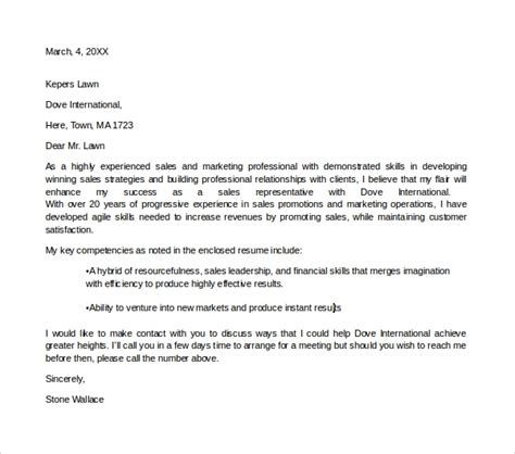 cover letter for application sales and marketing sle marketing assistant cover letter 8 free