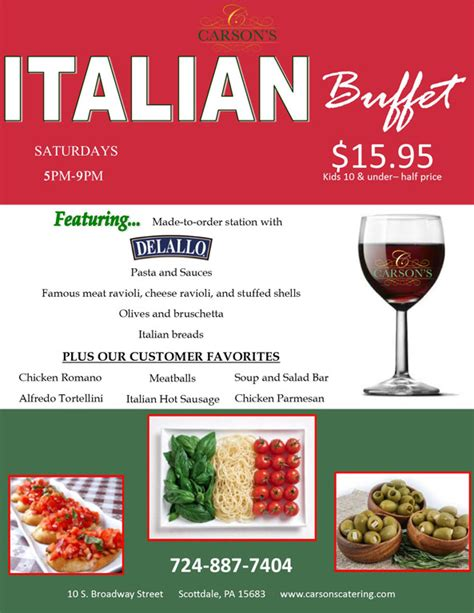 hometown buffet menu for saturday restaurant buffet selections carson s catering