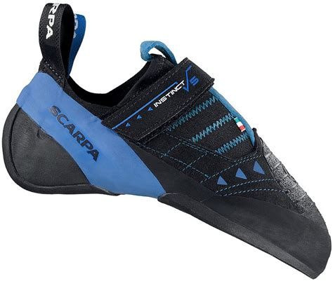 rock climbing shoes scarpa scarpa instinct vs r rock climbing shoe uk 8 black azure