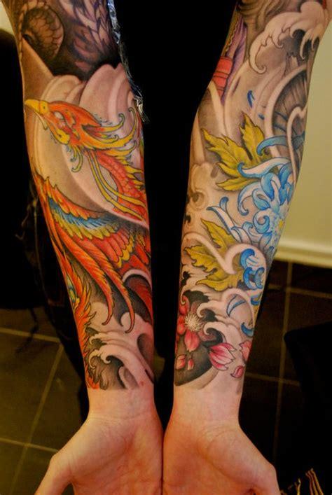 tattoo phoenix gallery phoenix sleeve tattoo by johan finne tattoonow