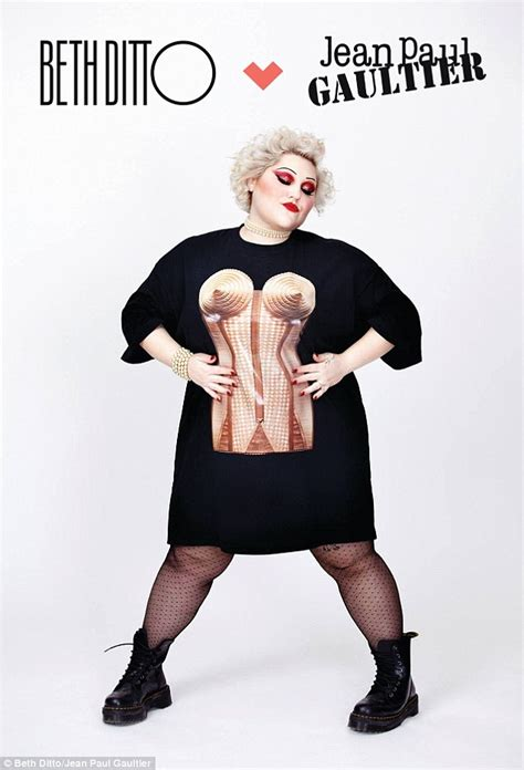 the gossip singer gossip star beth ditto and jean paul gaultier launche plus