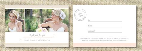 Photography Gift Card - sale gift card template for wedding photographers