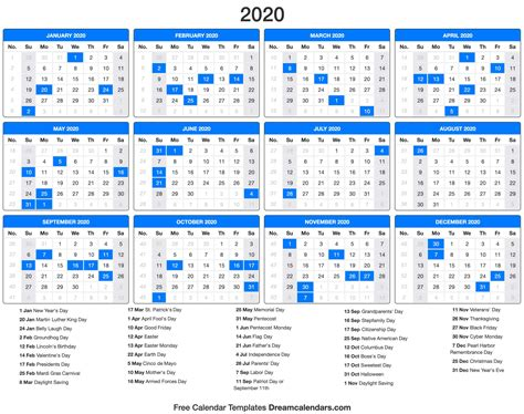 dream calendars   calendar template blog