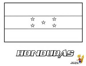 Honduras Flag Outline by Distinguished Flag Pictures Coloring Nations Falkland Islands Hungary Free