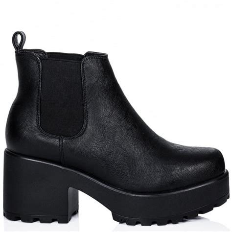 buy helixa cleated sole platform chelsea ankle boots black