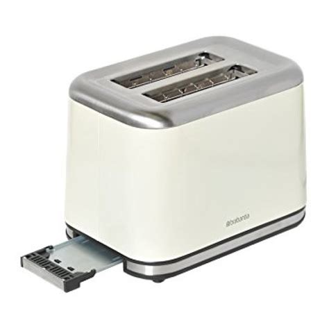Brushed Steel Toaster Brabantia 2 Slice Toaster Brushed Stainless Steel Almond