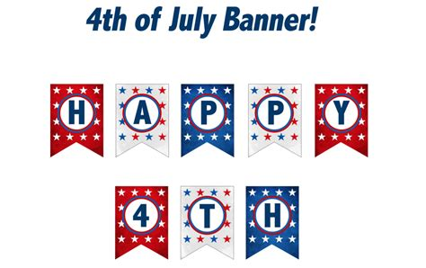 Printable Fourth Of July Banner | 4th of july fruity cups and free printables growing up