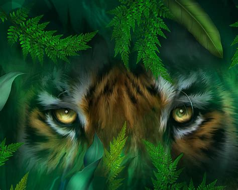 jungle eyes tiger mixed media by carol cavalaris