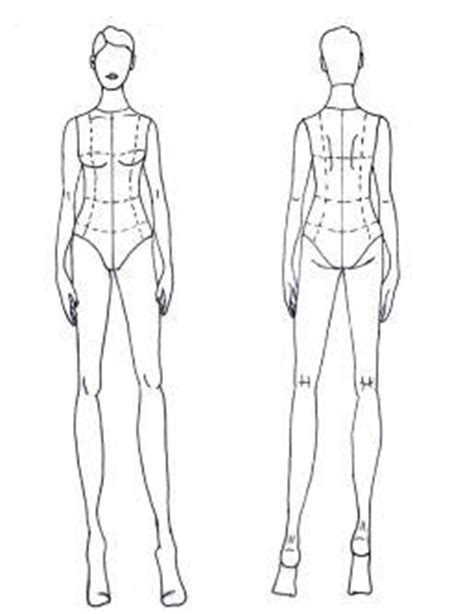 basic front back short hair croquis pinterest short