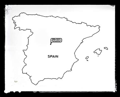 coloring page map of spain geography maps for colouring by starteducation teaching