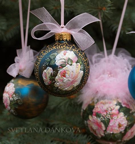 Decoupage Baubles - rustic ornament bandana country
