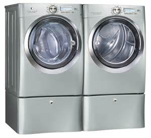 Samsung Front Load Washer Pedestal Electrolux Silver Steam Washer And Steam Gas Dryer Laundry