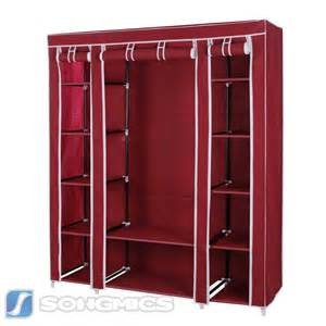 songmics 59 quot portable clothes closet wardrobe storage
