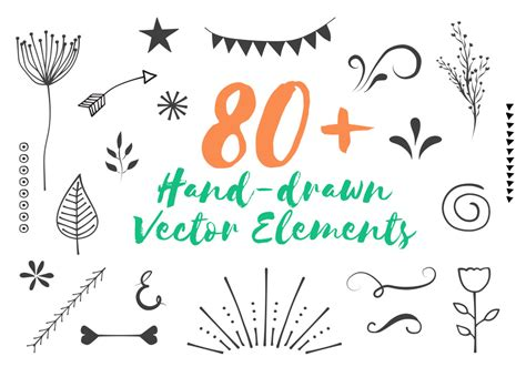 hand drawn design elements vector 80 free hand drawn vector elements graphicsfuel