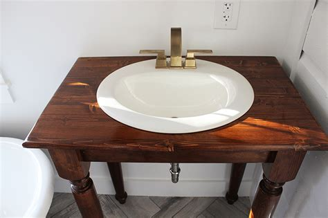 Farm Table Vanity by Diy Farmhouse Bathroom Vanities Thewhitebuffalostylingco