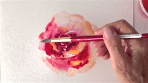 watercolor rose tutorial for beginners red rose watercolor tutorial how to paint fast and easy