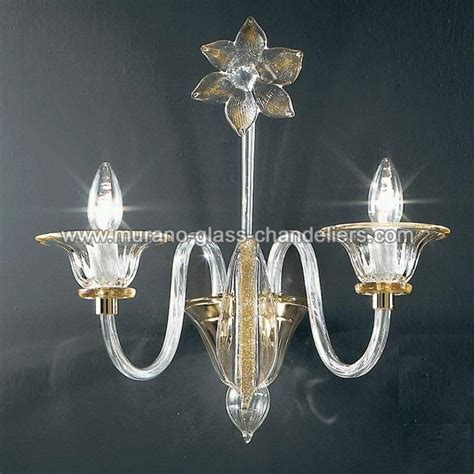 Sconce Chandelier Quot Alloro Quot Murano Glass Sconce Murano Glass Chandeliers