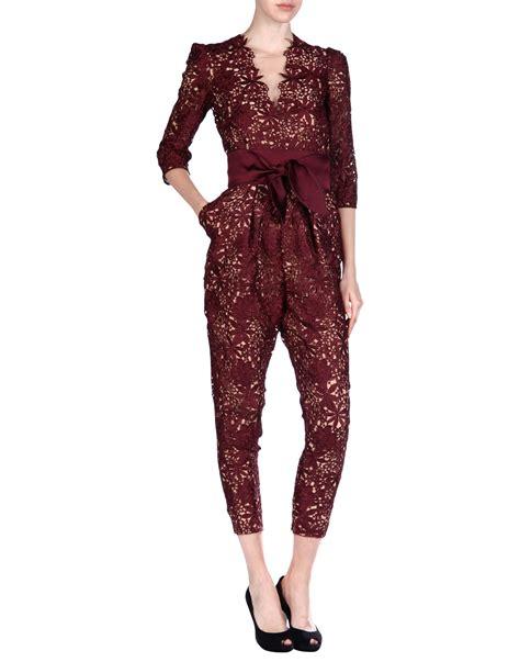 Overall Jumpsuit Maroon stella mccartney jumpsuit in purple maroon lyst