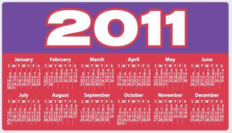 Calendar Of 2011 2011 Ad Calendar