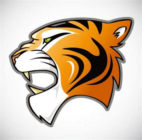 desain gambar harimau harimau kepala desain kreatif logo vektor icon vektor