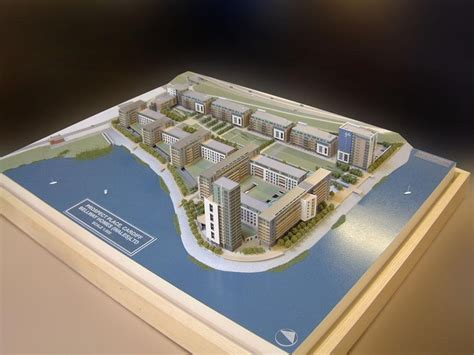 waterside appartments 1 500 scale architectural models modelmakers
