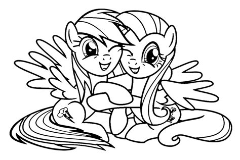 Rainbow Dash Coloring Pages Nice And Cute Rainbow Dash
