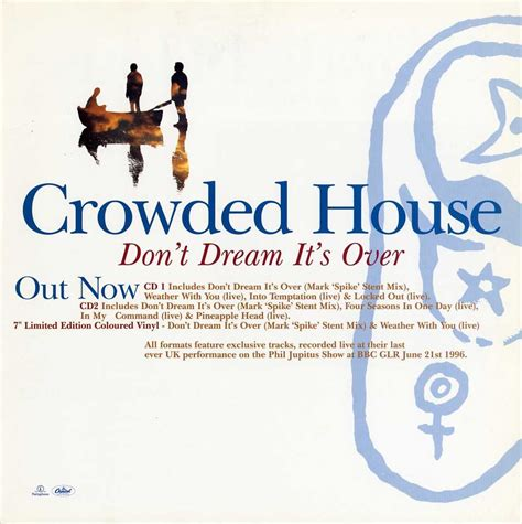 Crowded House Don T It S Lyrics by Recurring Don T It S Uk Promo Display