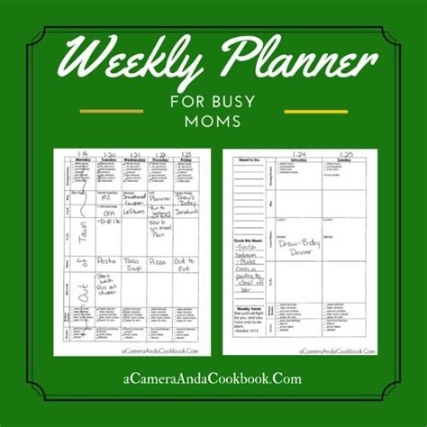 printable busy mom planner 17 best images about new year starting it off right on