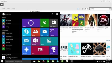 Play Store For Windows 10 Windows 10 App Store Interface Layout Plays Mobile