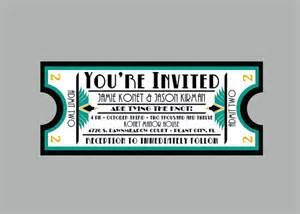 Vintage 1920 s antique art deco movie ticket wedding invitation